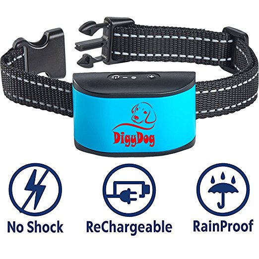 6. {2018 NEW CHIP} RECHARGEABLE No Bark Collar for dogs - NO SHOCK Safe Bark Control Training Collar For Small Dogs And Medium Dogs 6-80 lbs