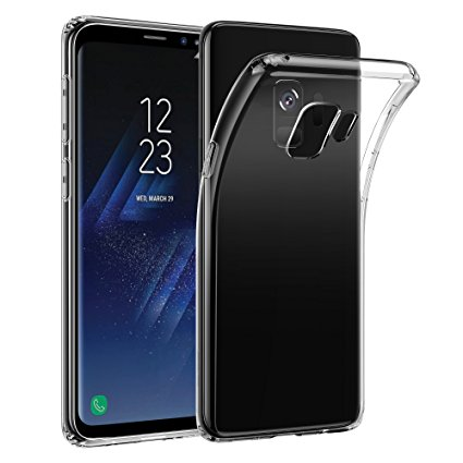 2. Samsung Galaxy S9 Case,ESR Slim Crystal Clear Transparent Soft TPU Cover Case [Support Wireless Charging] for Samsung Galaxy S9 5.8