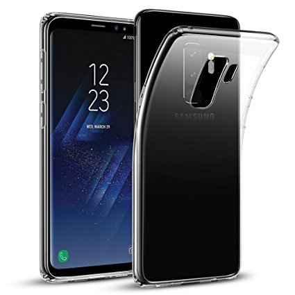 7. Samsung Galaxy S9 Plus Case,ESR Slim Crystal Clear Transparent Soft TPU Cover Case [Support Wireless Charging] for Samsung Galaxy S9 Plus 6.2