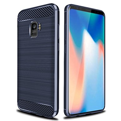 4. Galaxy S9 Case with Resilient Shock Absorption and Fingerprint-free, Asmart Slim Thin Soft TPU Bumper Phone Case Cover for Samsung Galaxy S9 (Blue)