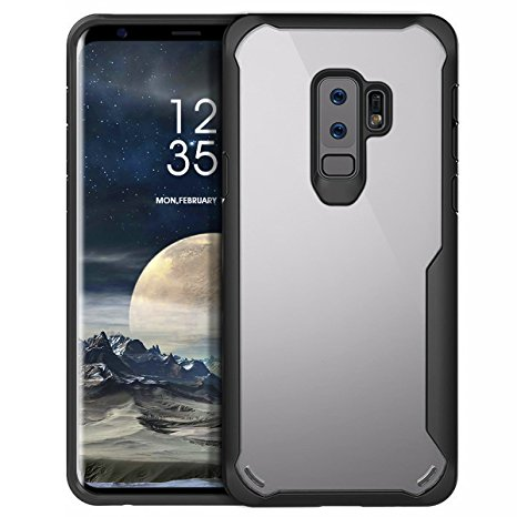 1. SAMSUNG Galaxy S9 Plus Case, MILPROX Eye-catching Series Ultra thin slim Transparent crystal clear PC Back Cover with Rubber TPU Bumper, Shockproof Anti-Scratch case for SAMSUNG S9 Plus - Black