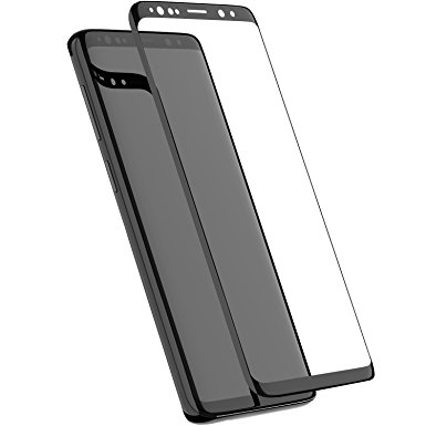 8. TOZO for Samsung Galaxy S9 Plus Screen Protector (2 Packs) Glass [ 3D Full Frame ] Premium Tempered 9H Hardness Super Easy Apply for Samsung Galaxy S9 Plus work with most case Black Edge