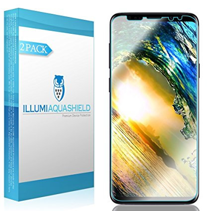 2. Galaxy S9 Screen Protector [2-Pack], ILLUMI AquaShield HD Clear Anti-Bubble Film Screen Protector for Galaxy S9 (Case Friendly Compatible)