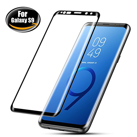 6. Galaxy S9 Screen Protector, BEAOK S9 3D Full Coverage Tempered Glass
