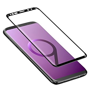 9. Galaxy S9 Screen Protector, ALCLAP Galaxy S9 Tempered Glass Screen Protector 3D Curved Full Coverage Ultra Clear High Definition Screen Film Anti-Bubble Screen Protector for Samsung Galaxy S9-Black