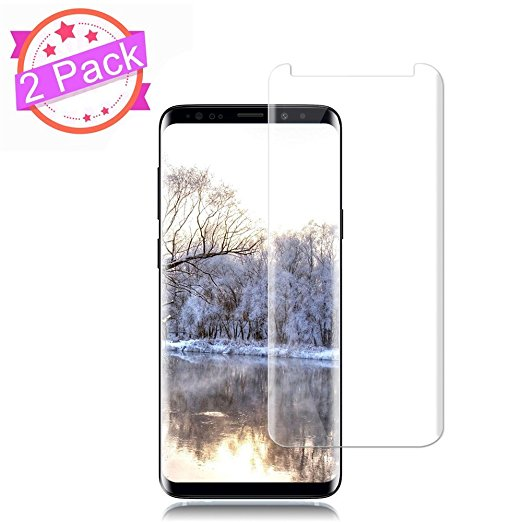4. [2 Pack]Galaxy S9 Screen Protector [9H Hardness][Anti-Scratch] [Anti-fingerprint] [Anti-Bubble][3D Curved] [High Definition] [Ultra Clear] Tempered Auideas Glass Screen Protector for Samsung Galaxy S9
