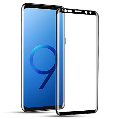 10. Galaxy S9 Screen Protector, Capshi S9 Tempered Glass 3D Curved Full Coverage HD Ultra Clear 9H Hardness Film(Anti-Scratch
