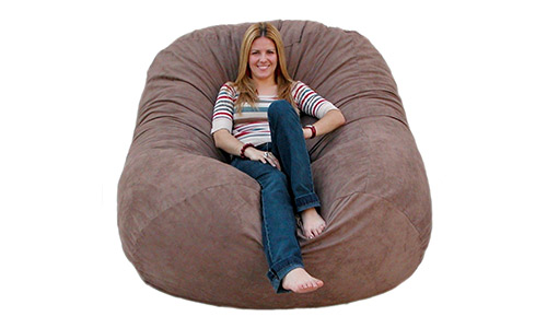 6. Cozy Sack 6-Feet Bean Bag Chair, Large, Earth