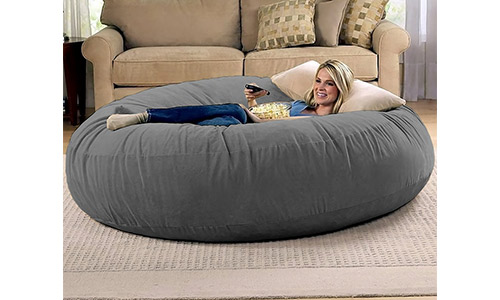 1. Jaxx 6 Foot Cocoon - Large Bean Bag Chair for Adults, Charcoal
