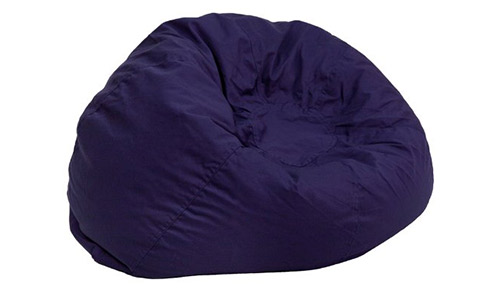 5. Flash Furniture Oversized Solid Navy Blue Bean Bag Chair