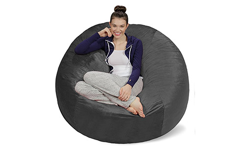 9. Sofa Sack - Bean Bags Bean Bag Chair, 5-Feet, Charcoal
