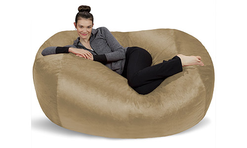 2. Sofa Sack-Bean Bags6' Large Bean Bag Lounger, Camel