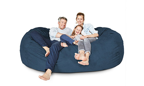 10. Lumaland Luxury 7-Foot Bean Bag Chair