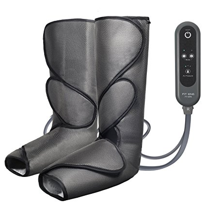 4. FIT KING Leg Air Massager for Foot And Calf Circulation Massage with Handheld Controller 3 Intensities 2 Modes(Dark Gray)
