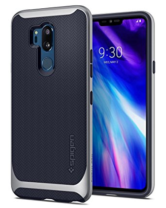 5. Spigen Neo Hybrid LG G7 Case/LG G7 ThinQ Case with Flexible Herringbone Pattern Protection and Reinforced Hard Bumper Frame for LG G7 ThinQ (2018)