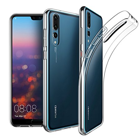 8. EasyAcc Huawei P20 Pro Case, Soft TPU Crystal Clear Slim Anti Slip Case Transparent Back Protector Cover for Huawei P20 Pro 6.1''