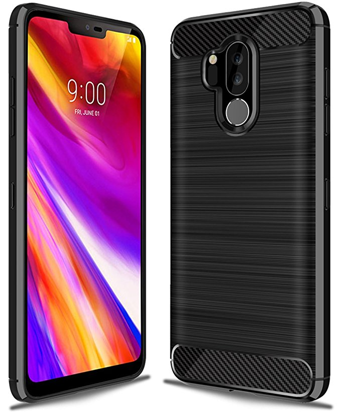 10. LG G7 ThinQ case, LG G7 Case, Suensan TPU Shock Absorption Technology Raised Bezels Protective Case Cover for LG G7 smartphone
