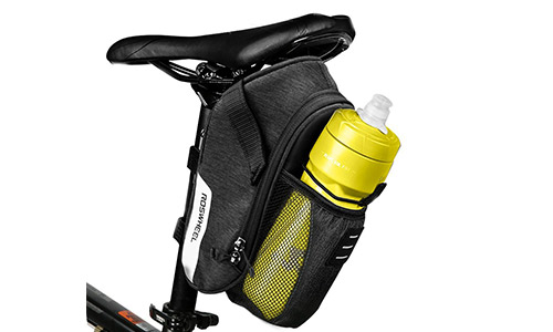 6. E-More 1.8L Bike Bicycle Saddle Bag Mountain Road MTB Bike Cycling Storage Pack Under Seat Packs Tail Pouch Compact Bike Back Seat Rear Bag Repair Tools Pocket Pack with Pocket for Water Bottle