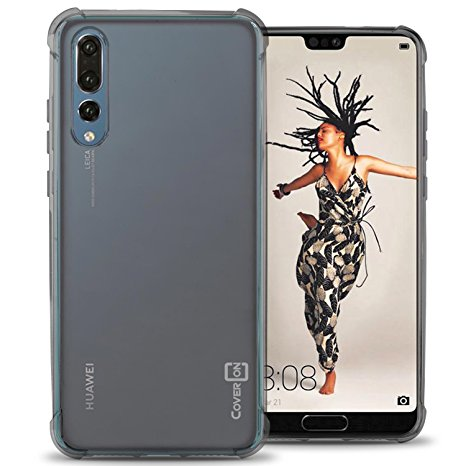 5. Huawei P20 Pro Case, CoverON [FlexGuard Series] Slim Fit TPU Phone Cover with Anti-Slip Grips and Corner Impact Protection for Huawei P20 Pro - HD Clear