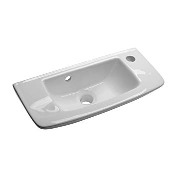 8. Wall Mount Vessel Sink White Grade A Vitreous China Scratch And Stain Resistant Offset With Overflow, No Mounting Bracket Required