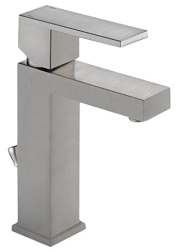 9. Delta 567LF-SSPP Modern Single-Handle Bathroom Faucet with Drain Assembly, Stainless