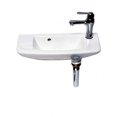 9. Wall Mount Sink WITH FAUCET AND DRAIN