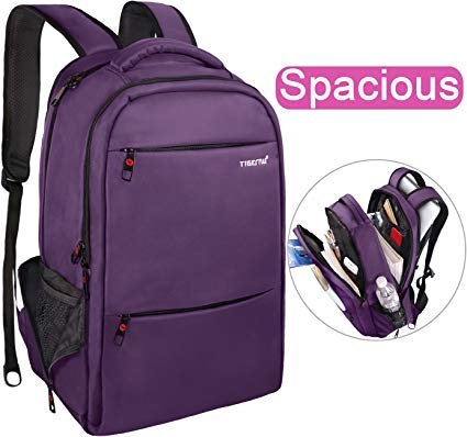 6. LAPACKER 15.6-17-inch Water Resistant Business Computer Backpacks for Women Mens Laptop Travel Bag Lightweight College Students Notebook Laptop Backpack - Purple