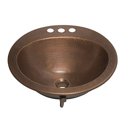 7. Sinkology SB101-19AC Bell Drop-in Handmade Copper Bath Sink