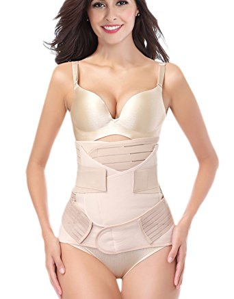 aa6c4c3e930a0 3 in 1 Postpartum Support Recovery Girdle Corset Belly Waist Pelvis Belt  Shapewear Belly Wrap
