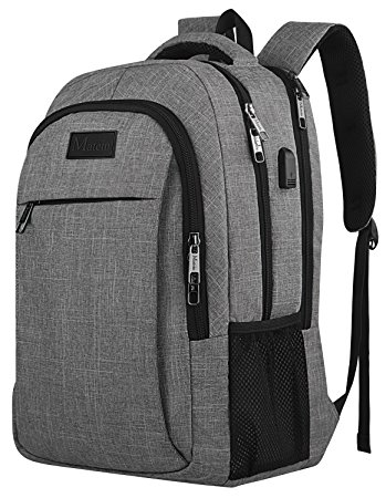 1. Travel Laptop Backpack, Business Anti-Theft Slim Durable Laptops Backpack with USB Charging Port, Water Resistant College School Computer Bag for Women & Men Fits 15.6 Inch Laptop and Notebook - Grey