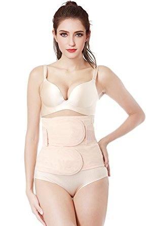 8. Gepoetry Postpartum Belly Wrap Girdle Recovery Support Belly Band Waist Trainer Belt Shapewear