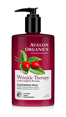 7. Avalon Organics Wrinkle Therapy CoQ10 Cleansing Milk, 8.50 oz (Pack of 2)