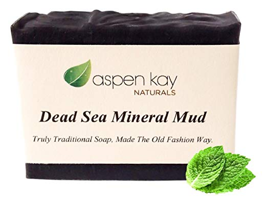 2. Dead Sea Mud Soap Bar 100% Organic & Natural. With Activated Charcoal & Therapeutic Grade Essential Oils. Face Soap or Body Soap. For Men, Women & Teens. Chemical Free. 4.5oz Bar