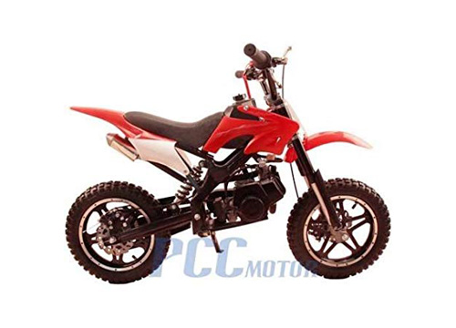PCC MOTOR DB50X 48L KIDS 49CC 2 STROKE GAS MOTOR DIRT MINI POCKET BIKE (Red)